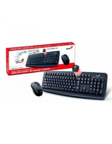 Kit Genius Teclado + Mouse Wireless - Km-8100 - Negro - Usb
